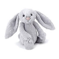 Jellycat Medium Bashful Bunny - Silver