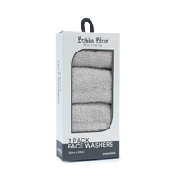 3 pack face washer set - Grey