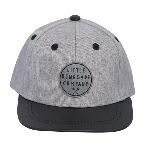 Wolf Grey Snapback Cap- Mini
